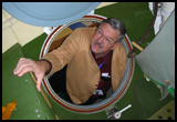 (Sep 26) Peering into Soyuz 'Orbital Module' trainer at 'Gagarin Cosmonaut Training Center', Star City, NE of Moscow
